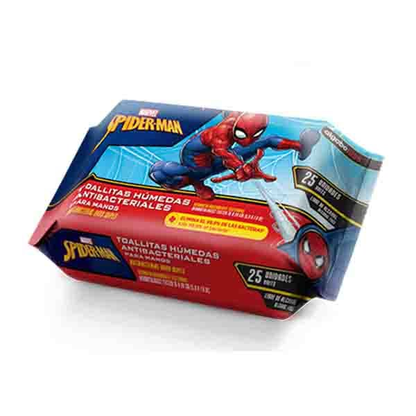 TOALLITAS ANTIBACTERIALES SPIDERMAN